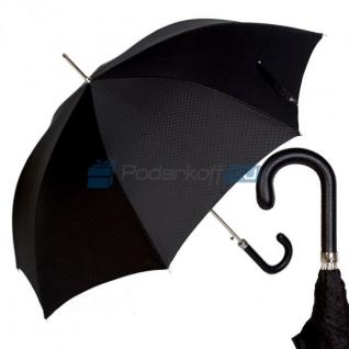 """Зонт-трость """"Классический"""" с ручкой из натуральной кожи"""