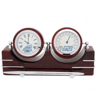 """Прибор настольный """"Комфорт"""" (часы, термометр, ручка)-5865113"""
