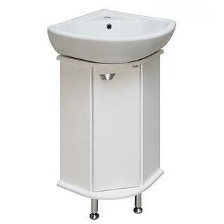 Тумба для ванной Runo Браво 40 без Раковины (Элегия угл) Белая