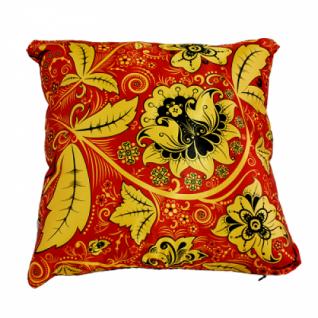 Декоративная подушка с хохломским узором в ассортименте, двусторонняя (40х40см.)-5254973