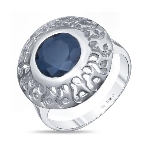 Серебряное кольцо с сапфиром TEOSA R-DRGR00761-SP R-DRGR00761-SP TEOSA-8918385