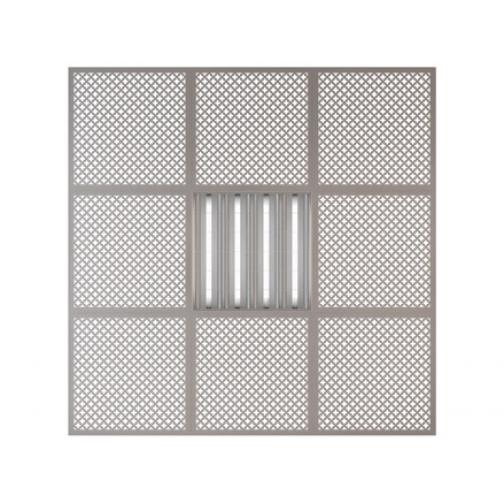 Потолочная плита Presko Лотос 59.5х59.5 металлик-6768516