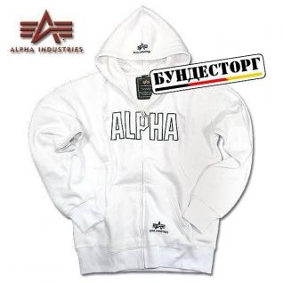 Alpha Industries Толстовка Alpha Industries Track, застежка-молния, цвет белый-5024230