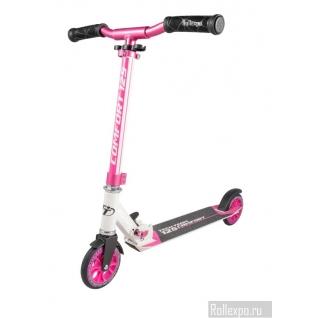 Детский самокат Tech Team TT Comfort 125 (бело-розовый) с колесами 125мм Techteam-37649428