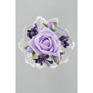 Украшение на руку, сиреневый (цветок на резинке)