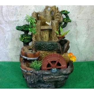 Декоративный фонтан | Настольный для дома | Водопад 28 см.-5254913