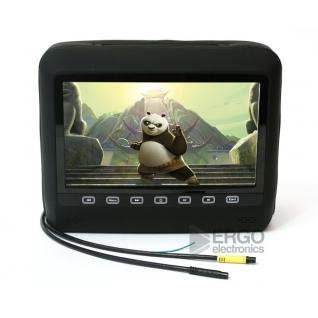 """Подголовник со встроенным DVD плеером и LCD монитором 9"""" ERGO ER9HD (Черный) Ergo-833526"""