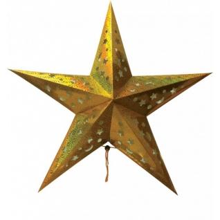 Световая фигура Feron LT101 Звезда из бумаги, золотая-8223712