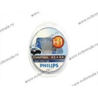 Лампа галоген 12V Н1 55W P14.5s Philips CrystalVision 12258CVSM-416005