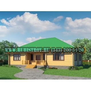"Проект ""РЯБИНУШКА"" из профилированного бруса 145 х 190 мм, размер 16,5 х 12, площадь дома 181 кв.м."