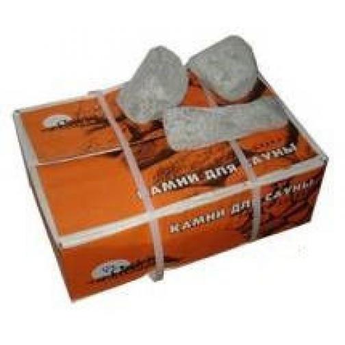Камень для бани и сауны Талькохлорит шлифованный (коробка 20 кг)-2063695