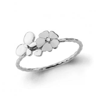 Кольцо из серебра с фианитом АКВАМАРИН 67532А