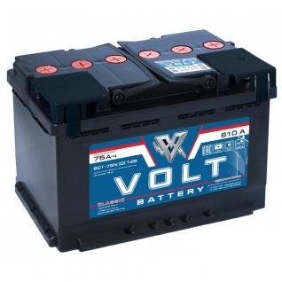 Аккумулятор VOLT Classic 6CT- 75NR 75 Ач (A/h) обратная полярность - VC 7501 VOLT VC6CT- 75NR-6017354