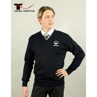 Пуловер мужской прямого покроя, модель «Гамма»-465525