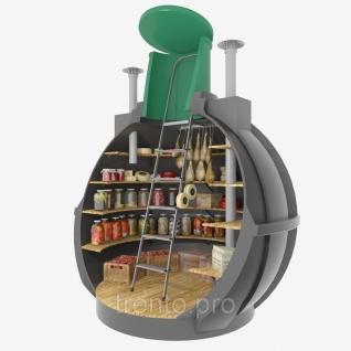Бесшовный пластиковый погреб сферический в полной комплектации-6887744