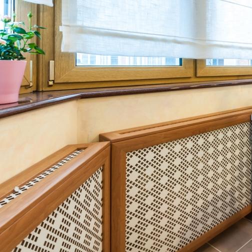 Декоративный экран с коробом Квартэк рондо 620*1500*160(200) мм (пепел, белый, клен, дуб, бук, вишня, орех, махагон, венге)-6769356