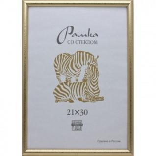 Рамка пластиковая А3 золотого цвета 509
