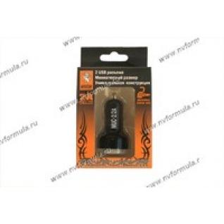 Прикуриватель разветвитель для USB MYSTERY MUC-2/2A-432786