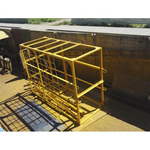 Навесная площадка для каменщиков (клетка) под деревянный настил-6765356