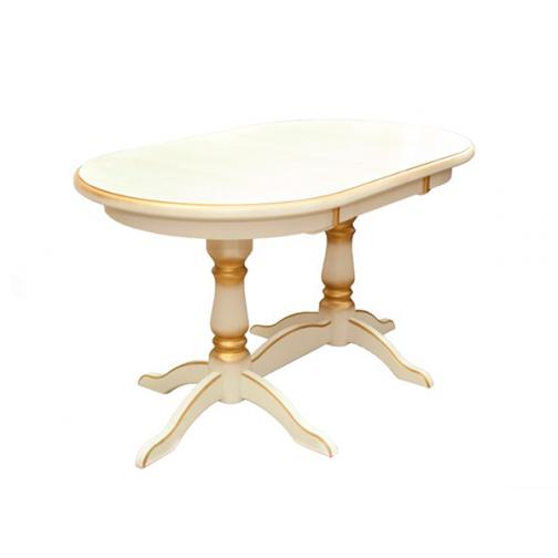 Стол из бука кухонный раздвижной (овальный)-6723753