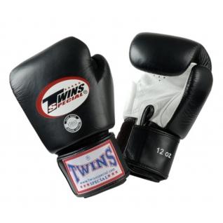 Twins Special Перчатки боксерские Twins BGVL-3, 18 унций, Черный-белый