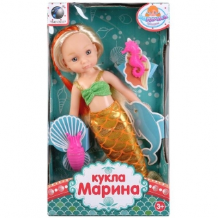 Кукла русалка, с аксесс. BR103 в русс. кор. в кор.2*48шт-37793699