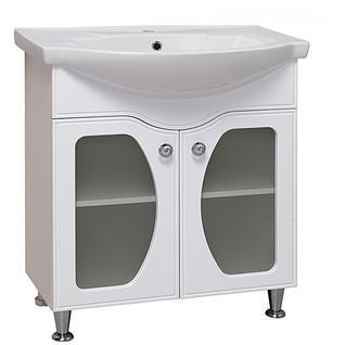 Тумба для ванной Runo Линда Люкс 75 без Раковины (Элеганс 75) Белая