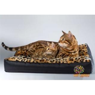 Лежанка для кошек и собак прямоугольная, мех/Зима-лето