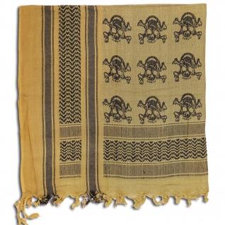 Made in Germany Шемаг цвета хаки и черного, с изображением черепов-5025242
