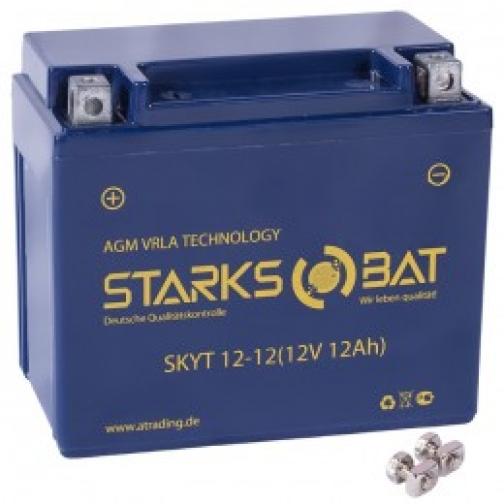 Аккумулятор для мототехники STARKSBAT STARKSBAT YT 12-12 155А прямая полярность 12 А/ч (150x87x130)-5789168