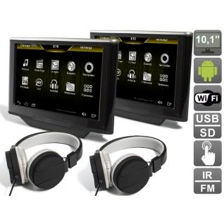 """Комплект универсальных навесных мониторов на подголовник с диагональю 10.1"""" AVIS Electronics AVS1033AN (#01) на Android"""