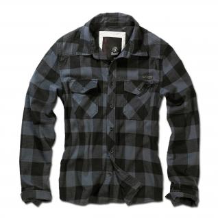 Brandit Рубашка Brandit в клетку, цвет черно-серый-5020805