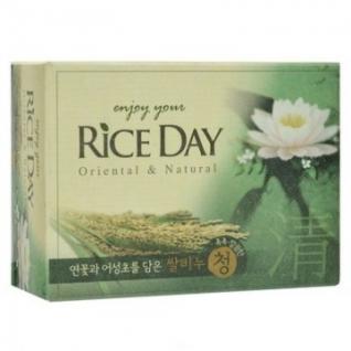 Мыло туалетное CJ Lion Rice Day с экстрактом лотоса 100 г (112887)-37869216