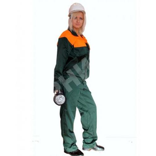 Костюм летний Мастер зеленый с оранжевым-9429