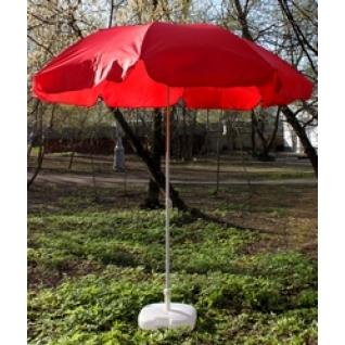 Зонт 2,4 м с поворотом красный-6822488