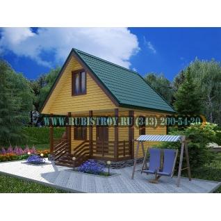 Садовый дом по проекту СТТ-1, из обрезного бруса сечением 150 х 150 мм., площадь 57,5 кв.м, размер 6,0 х 5,0.-465247