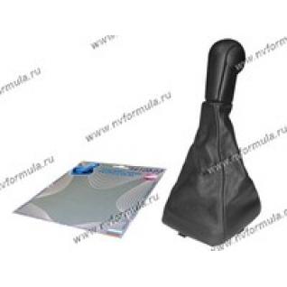 Ручка КПП 2113-15 Сфера кожзам+чехол черная-431218