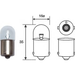 Лампа накаливания! R10W BA15s HeavyDuty\ DAF-6013466