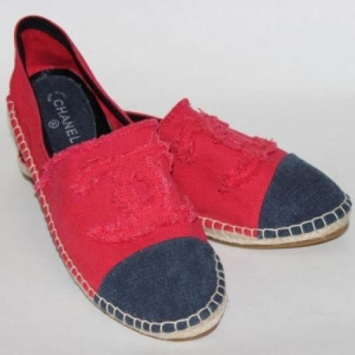 Эспадрильи Chanel Red Blue-903258