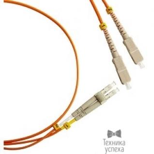 Hyperline Hyperline FC-D2-50-LC/PR-SC/PR-H-5M-LSZH-OR (FC-50-LC-SC-PC-5M) Патч-корд волоконно-оптический (шнур) MM 50/125, LC-SC, duplex, LSZH, 5 м