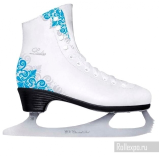 Фигурные коньки СК (Спортивная коллекция) Ladies Lux Corso 50/50% Leather Blue (подростковые)