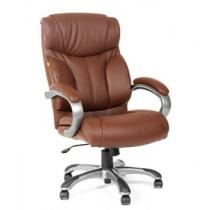 Кресло CHAIRMAN 435 (CH-435) (кожа) цвет коричневый