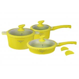 Набор посуды из литого алюминия с покрытием под мрамор MercuryHaus, 8 предметов-37775035