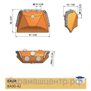 Резец обсадной трубы ВА-24