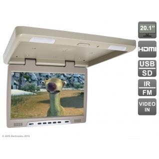 """Потолочный автомобильный монитор 20,1"""" с HDMI и встроенным медиаплеером AVIS Electronics AVS2020MPP (бежевый) Avis-6826359"""