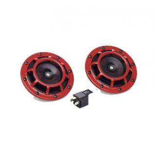 Звуковой сигнал Hella 300-500 гц красные 3AG 003 399-801-9063437