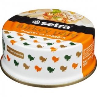 Мясные консервы Паштет Setra из индейки,100гр