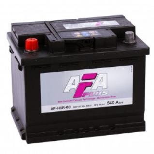 Автомобильный аккумулятор AFA AFA 60L 540А прямая полярность 60 А/ч (242x175x190)-5789018