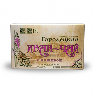 Иван-чай Городецкий с клюквой, 100 г, коробка-822478