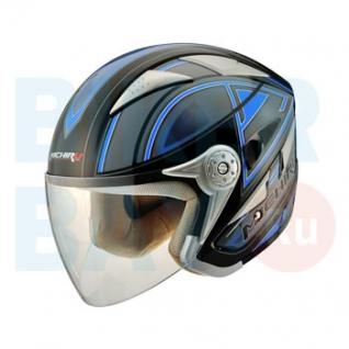 Шлем (открытый) MO 126 Stroke Blue (Размер XL) MICHIRU-2154698